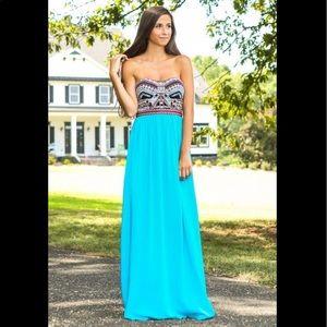 MarineBlu On the Riviera Maxi Dress in Size Large